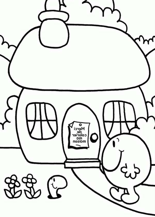 Mr Men and Little Miss, : Home Sweet Home in Mr Men and Little Miss Coloring Pages