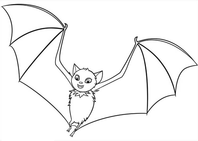 Hotel Transylvania, : Hotel Transylvania Flying Bat Coloring Pages