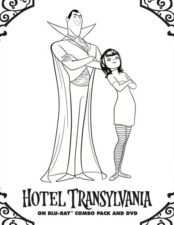 Hotel Transylvania, : Hotel Transylvania Owner Count Dracula and Mavis Coloring Pages
