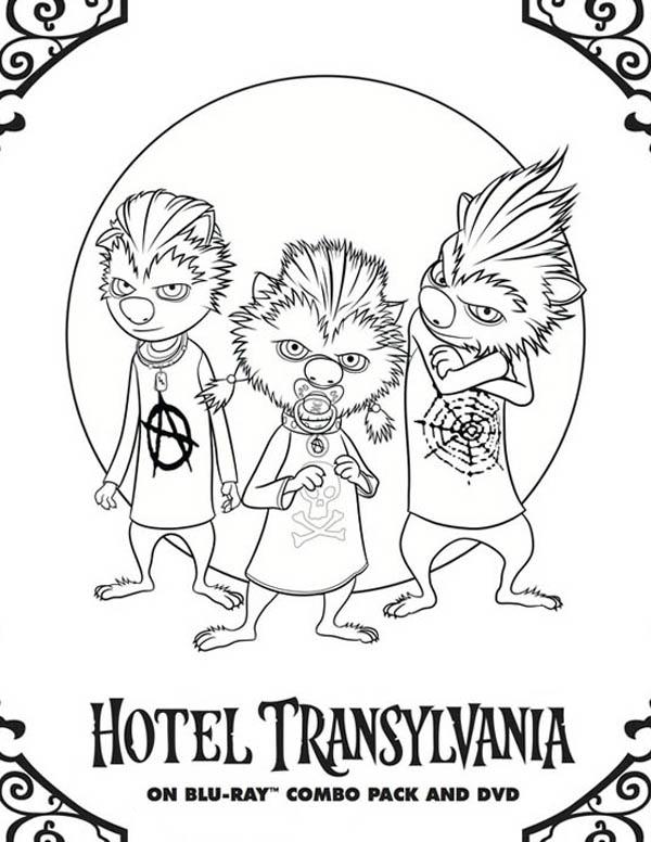 Hotel Transylvania, : Hotel Transylvania Wolfpups Coloring Pages