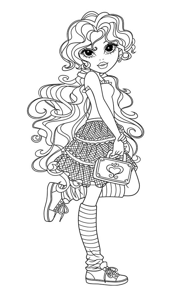 Moxie Girlz, : How to Draw Bria from Moxie Girlz Coloring Pages