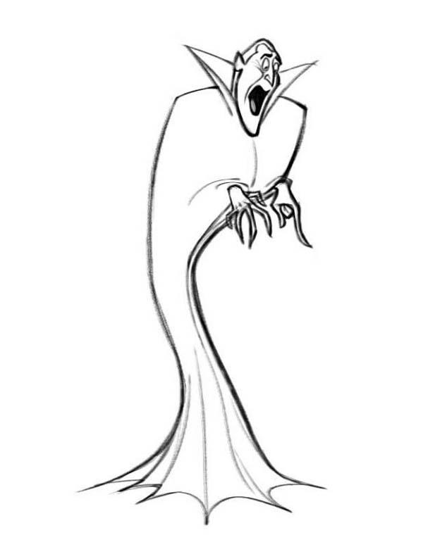 Hotel Transylvania, : How to Draw Count Dracula Hotel Transylvania Coloring Pages