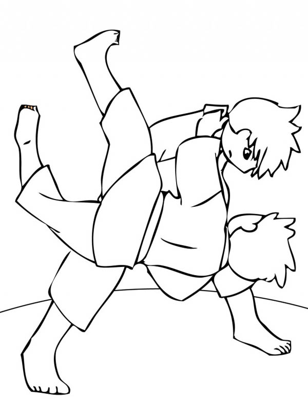 Judo, : How to Draw Judo Coloring Pages