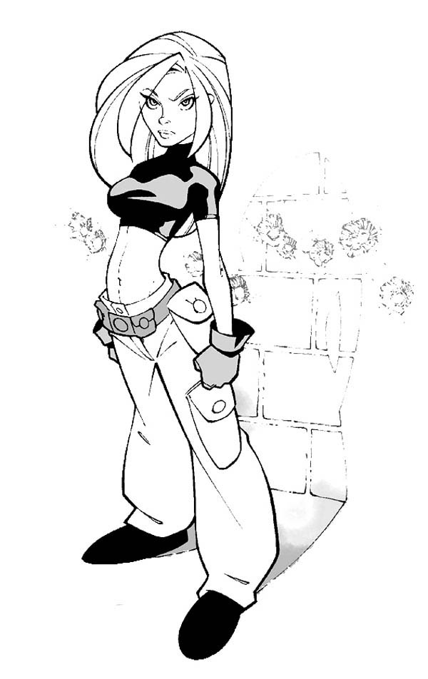 Kim Possible, : How to Draw Kim Possible Coloring Pages