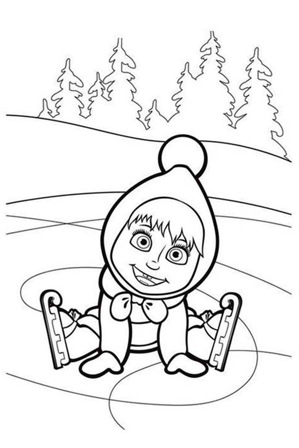 Mascha and Bear, : How to Draw Mascha and Bear Coloring Pages