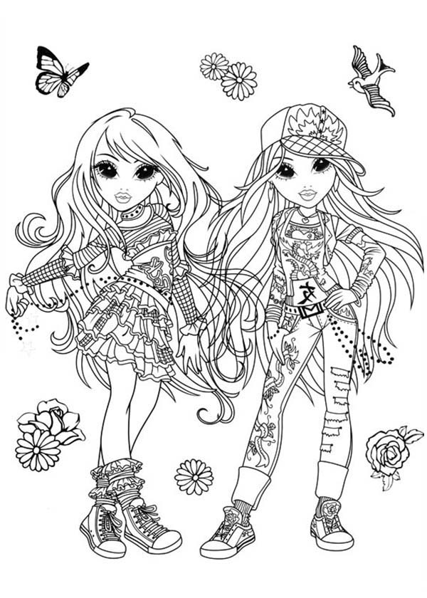 Moxie Girlz, : How to Draw Moxie Girlz Coloring Pages