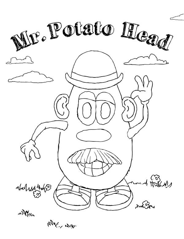 Mr. Potato Head, : How to Draw Mr. Potato Head Coloring Pages