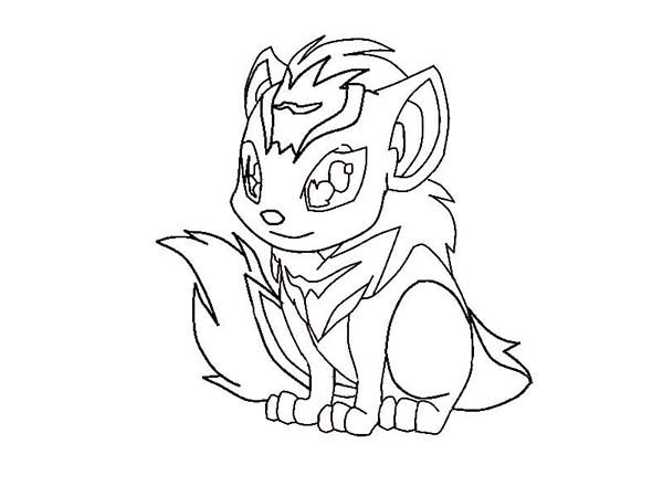 Neopets, : How to Draw Xweetok from Neopets Coloring Pages