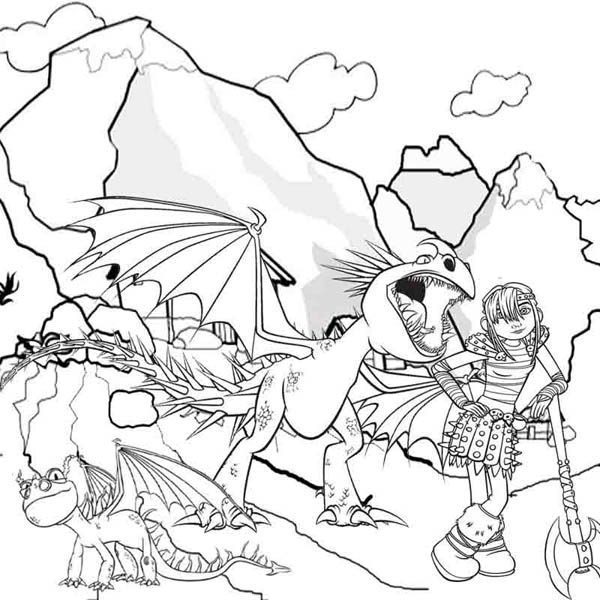 How to Train Your Dragon Coloring Pages for Kids | Bulk Color