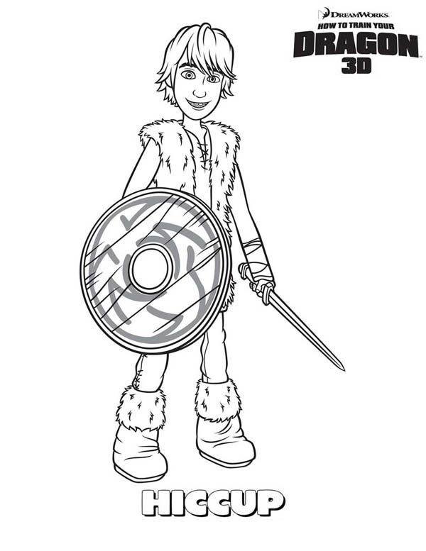 How to Train Your Dragon, : How to Train Your Dragon Main Character Hiccup Coloring Pages