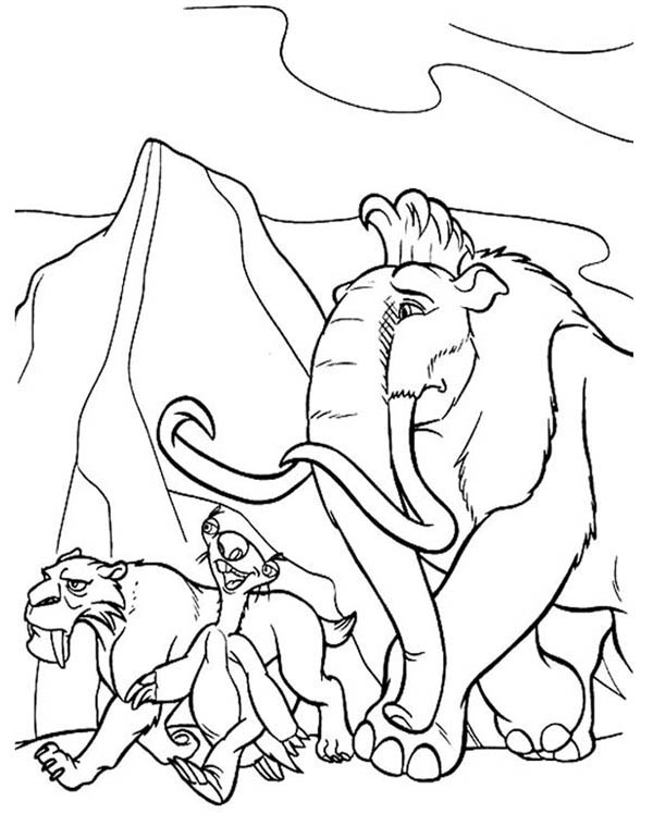 Ice Age, : Ice Age Adventure Coloring Pages