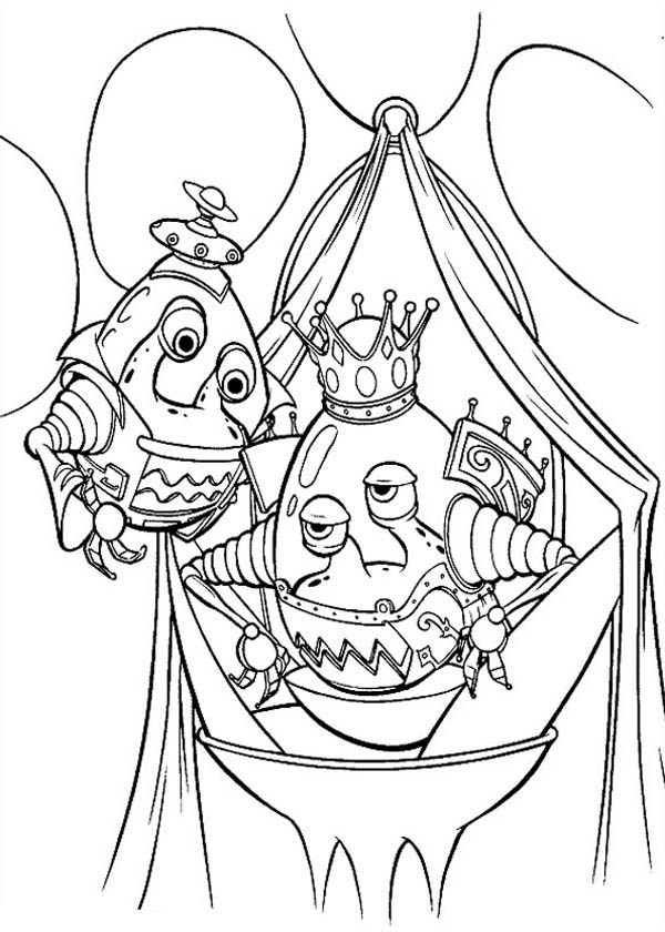 Jimmy Neutron, : Jimmy Neutron Alien Coloring Pages