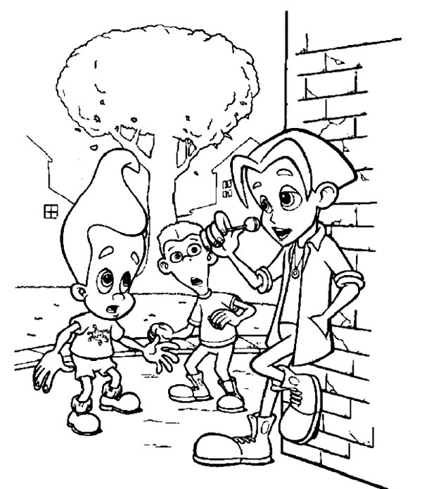 Jimmy Neutron, : Jimmy Neutron Ask for Candy Coloring Pages