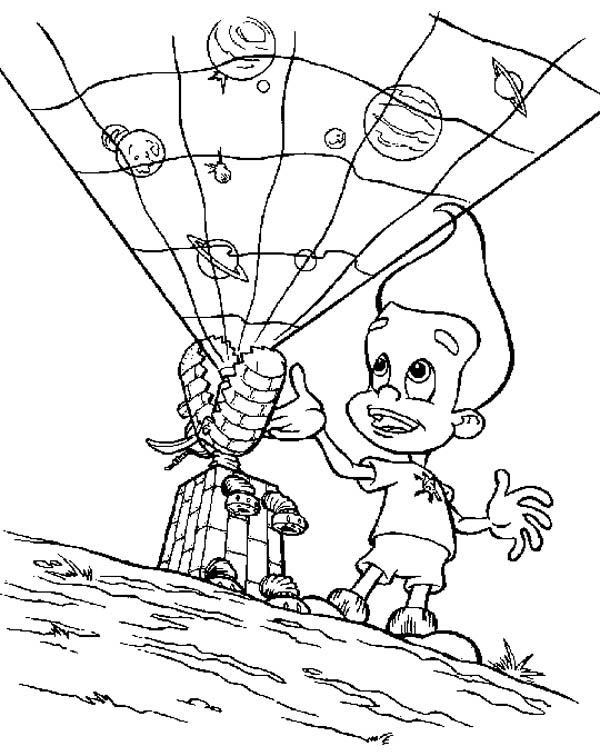 Jimmy Neutron, : Jimmy Neutron Goddard Become Projector Coloring Pages