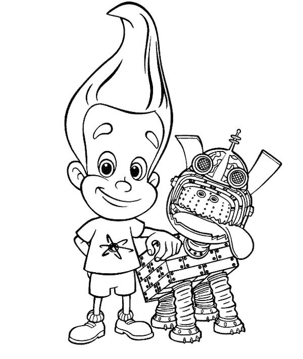 Jimmy Neutron, : Jimmy Neutron Pet Goddard Coloring Pages