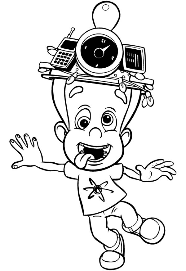 Jimmy Neutron, : Jimmy Neutron Silly Face Coloring Pages