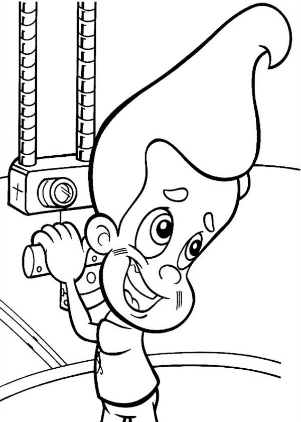 Jimmy Neutron, : Jimmy Neutron in a Submarine Coloring Pages