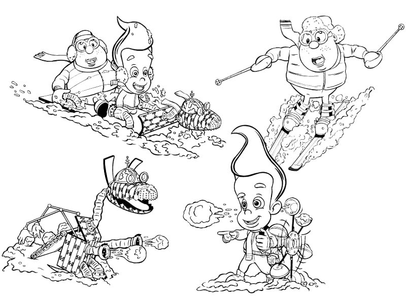 Jimmy Neutron, : Jimmy Neutron the Movie Coloring Pages