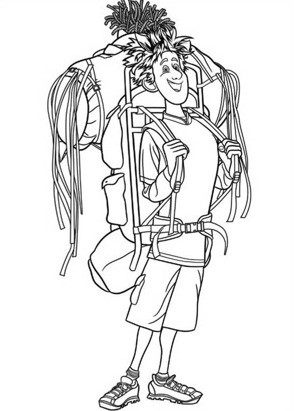 Hotel Transylvania, : Jonathan Just Arrived at Hotel Transylvania Coloring Pages