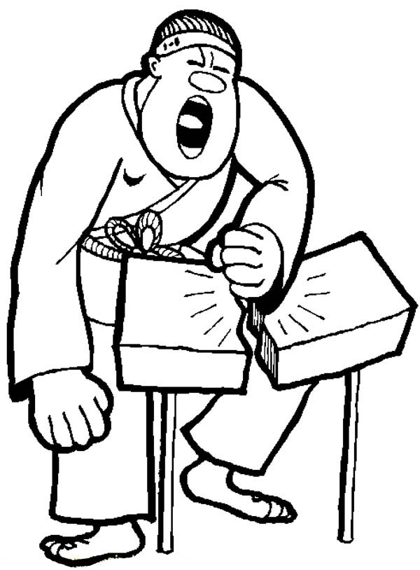 Judo, : Judo Breaking a Rock in Two Coloring Pages