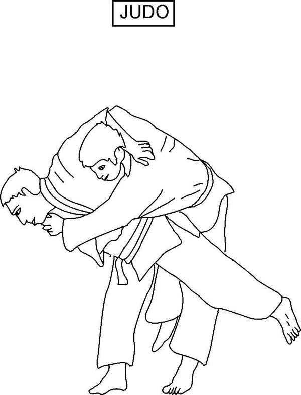 Judo, : Judo Competition Coloring Pages