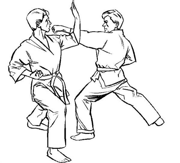 Judo, : Judo International Athlete Coloring Pages