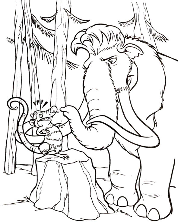 Ice Age, : Kids Drawing Ice Age Coloring Pages