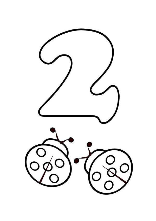 number 2 coloring pages for preschoolers