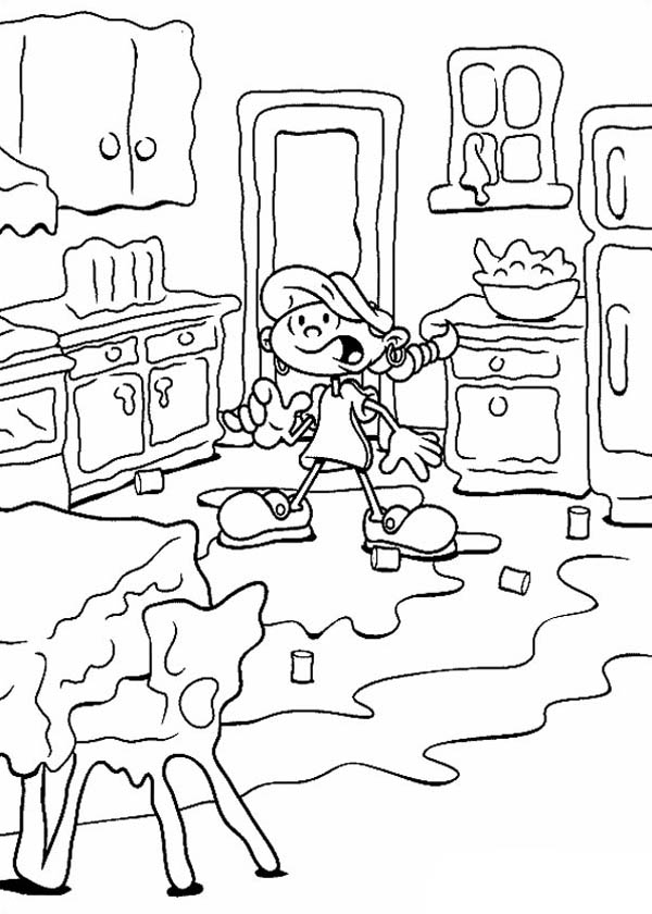 Kids Next Door, : Kids Next Door Coloring Pages Numbuh 5 House is Melting too