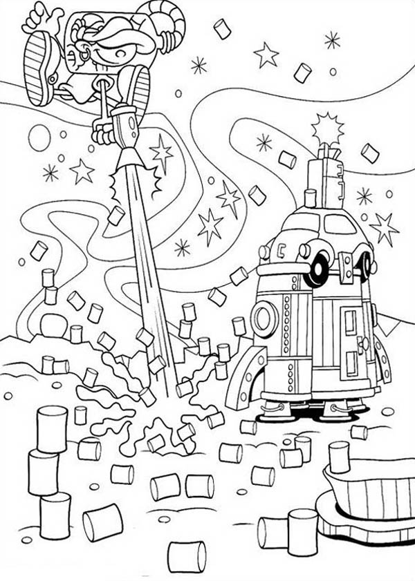 Kids Next Door, : Kids Next Door Coloring Pages Numbuh 5 Laser Gun