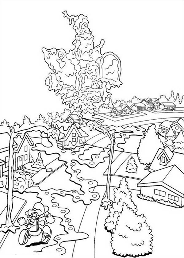 Kids Next Door, : Kids Next Door Coloring Pages Numbuh 5 Saw All City is Melting