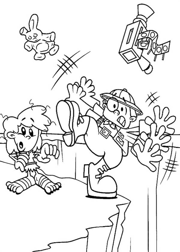 Kids Next Door, : Kids Next Door Coloring Pages Reporter Falling