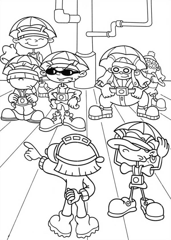 Kids Next Door, : Kids Next Door Coloring Pages Set Planning to Defeat Enemy