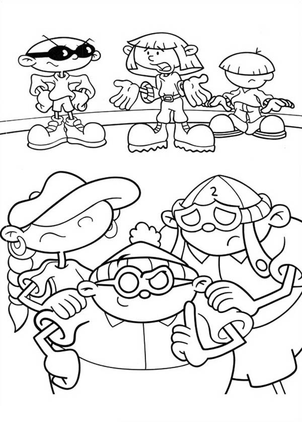 Kids Next Door, : Kids Next Door Coloring Pages Try to Figure Out Enemy's Plan