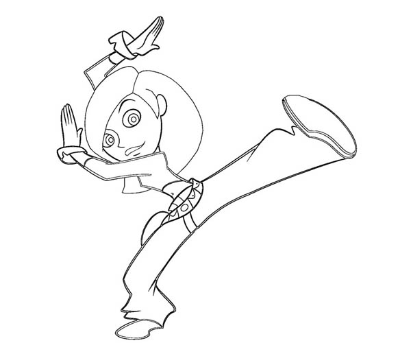Kim Possible, : Kim Possible Kung Fu Style Coloring Pages