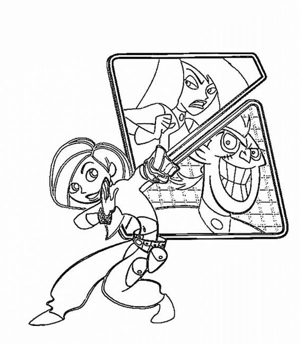 Kim Possible, : Kim Possible and Her Nemesis Coloring Pages