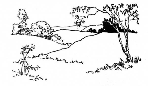 Landscapes, : Landscapes Up on Hills Coloring Pages