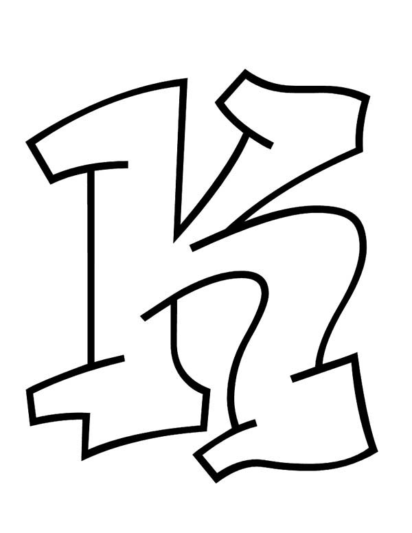Letter K, : Learn ABC for Letter K Coloring Page