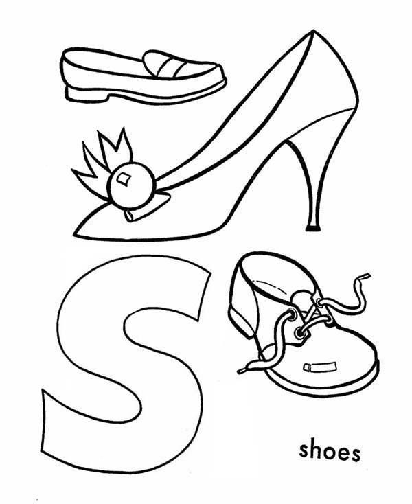 Letter S, : Learn Alphabet Letter S Coloring Page