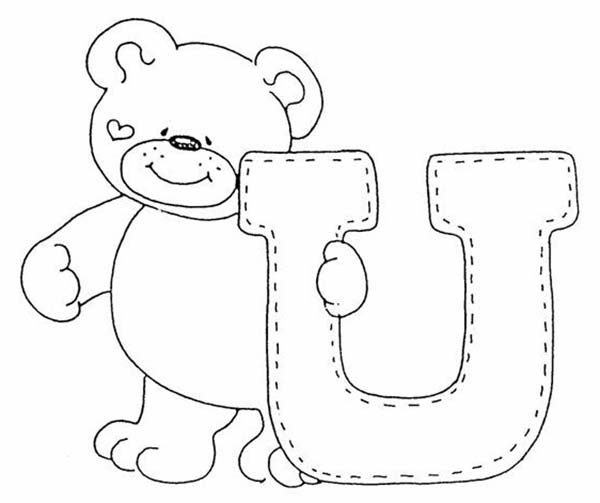 Letter U, : Learn Letter U Coloring Page