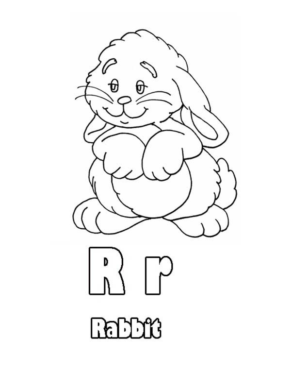 Letter R, : Learn Upper Case and Lower Case Letter R Coloring Page