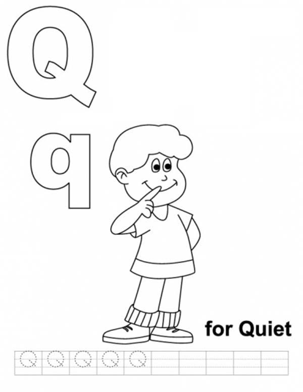 Letter Q, : Learning Upper Case Letter Q Coloring Page