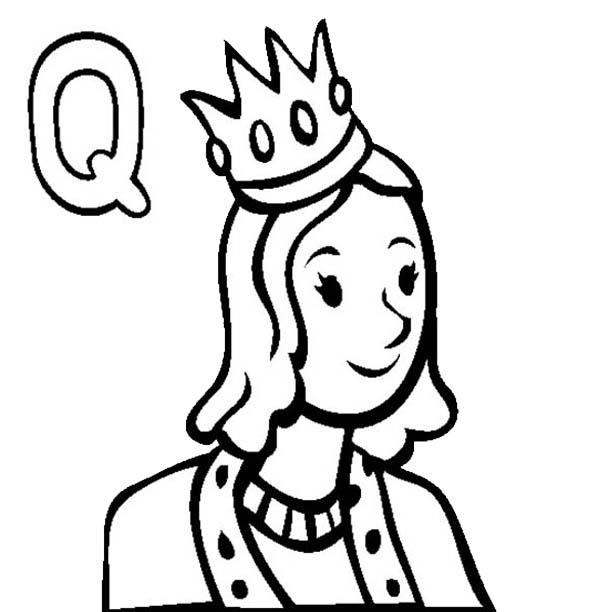 Letter Q, : Letter Q Coloring Page for Preschool Kids
