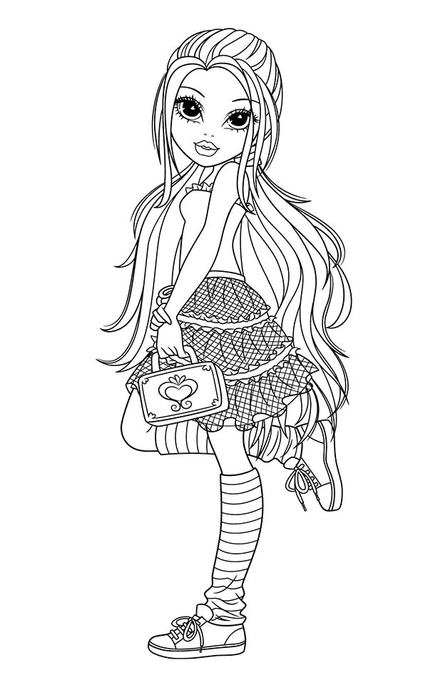 Moxie Girlz, : Lexa Would Like to Go Out in Moxie Girlz Coloring Pages