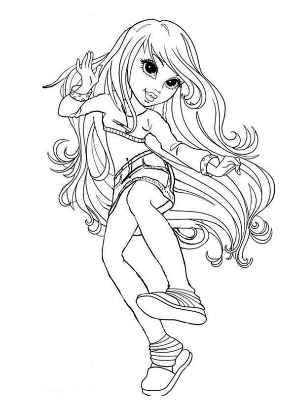 Moxie Girlz, : Lexa the Fun Girl in Moxie Girlz Coloring Pages