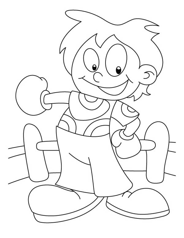 Judo, : Little Judo Kid Coloring Pages