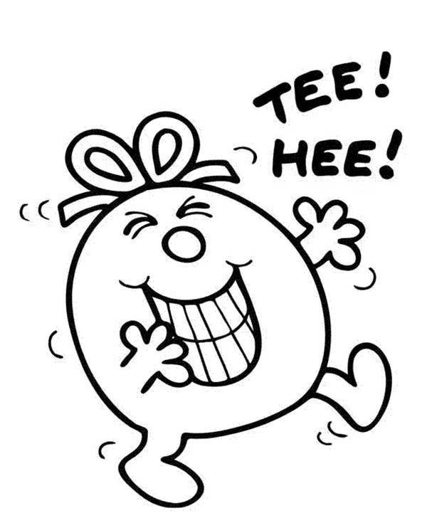 Mr Men and Little Miss, : Little Miss Naughty Laugh Out Loud in Mr Men and Little Miss Coloring Pages