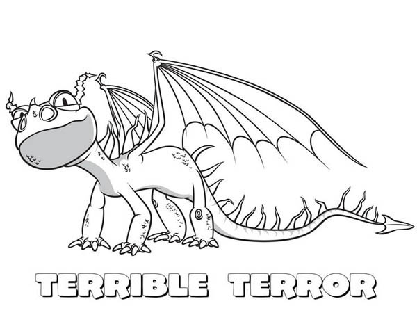 How to Train Your Dragon, : Little Terrible Terror from How to Train Your Dragon Coloring Pages