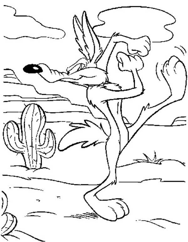 Looney Tunes, : Looney Tunes Coloring Pages Wile E Coyote Start to Run