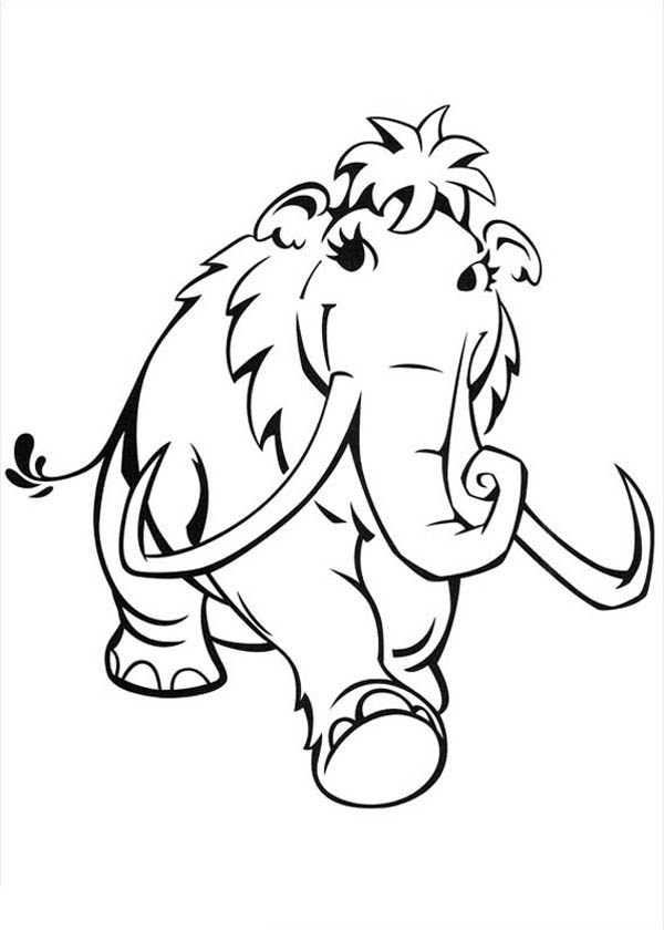 Ice Age, : Lovely Peaches Walking Around in Ice Age Coloring Pages